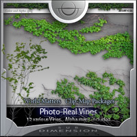 Vines vinery textures clipmaps