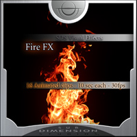 Fire  animated video FX clips
