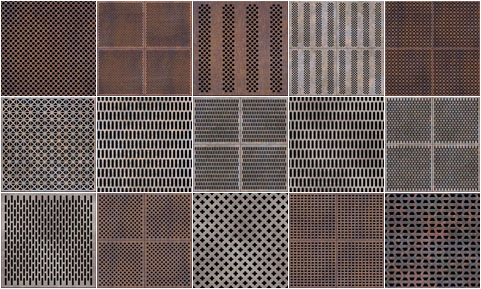 Professional Seamless Perforated Metal Textures Ideal For
