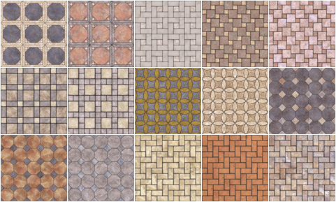 tile pattern materials